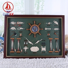 LUCKK Wall Hanging Picture 72*52 Frame With The Sailor Knot Souvenir Sea Style Home Decoration Room Crafts Free Shipping стоимость