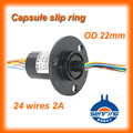 Electronic Slip ring OD 22mm  24 wires /2A signal of capsule slip ring