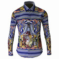 15007 China royal wind The qing dynasty royal 3 d printing popular logo shirt shirt Men's urban fashion shirt