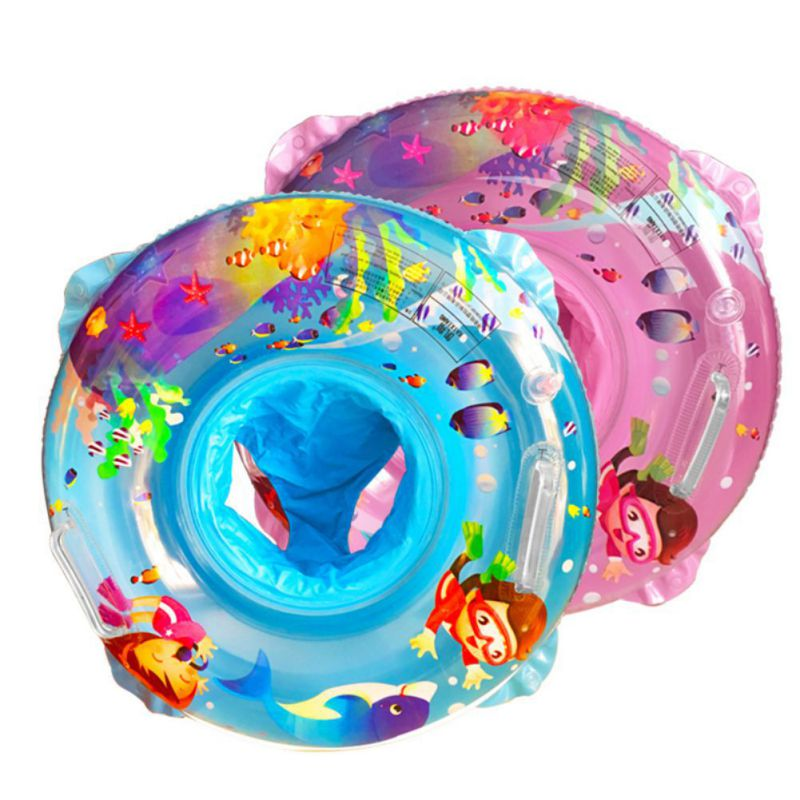 2018 Baby Swimming Ring Inflatable Cartoon Double Layer Pool Float Baby Summer Water Fun Pool Toy H1