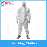 Anti Dust Spray Suit Siamese Non Woven Safety Clothing White Labor Safely Clothing 3M Chemical Protective