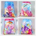 1 pcs my little pony dos desenhos animados não-tecido tecidos cordão mochila, mochila, saco de compras