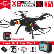 SYMA X8 X8A X8W FPV RC Drone With 4K Untra HD Camera 6-Axis RTF RC Helicopter Quadcopter fit H9R WIFI Camera VS SYMA X8G X8HG