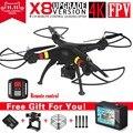 Syma x8 x8a x8w untra hd câmera fpv zangão rc com 4 k 6-axis rc helicopter rtf quadcopter fit h9r wifi camera vs syma x8g X8HG