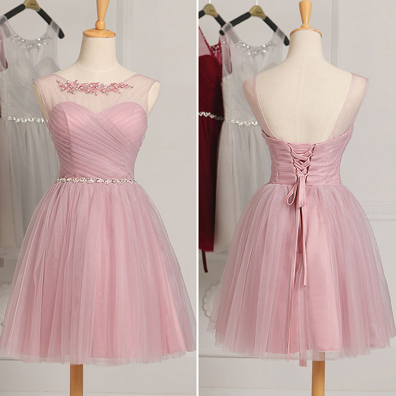 Short Cheap Bridesmaid Dresses Under 50 In Stock Mint Green White ...