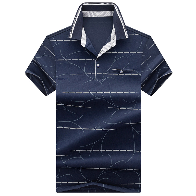 2019 Summer New Fashion Camisa Short Sleeve   Polo   business Masculinas Turn Down Collar Casual Men's   Polo   Shirt plus size XXXL tee