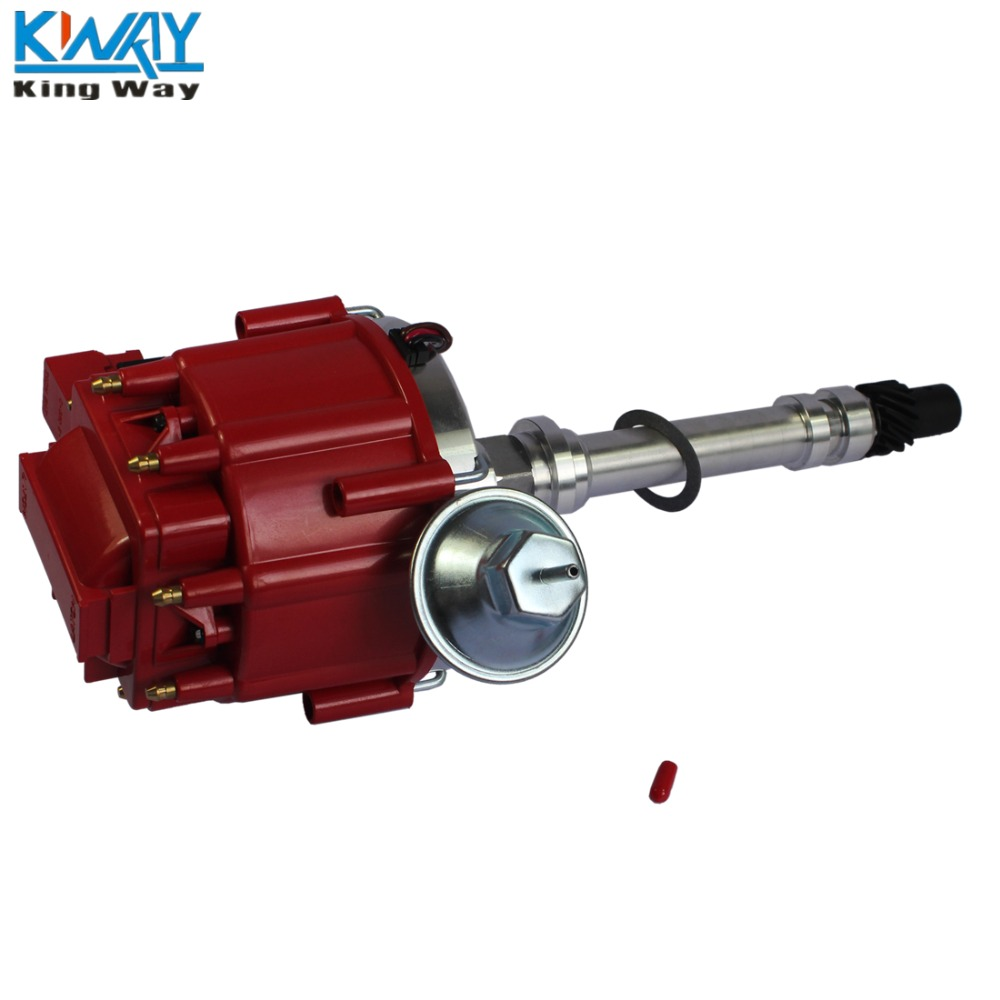 Free Shipping King Way High Performance Red Cap Hei Distributor For 78 Gm Module Chevy Small Block Big 65k In Ignition Coil From Automobiles Motorcycles On