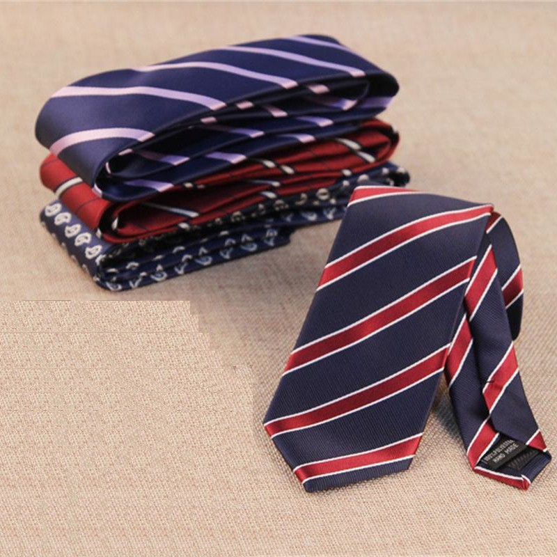 7cm necktie floral tie for font b men b font neckwear striped ties dot ascot shirt