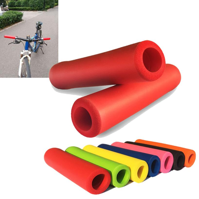 1Pair Bicycle Handle Bar Grips Outdoor  Mountain Cycling Bike Bicycle Silicone Anti-slip  Handlebar  AP0802