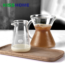 100ml Coffee Milk Measuring Scale Jug Glass Sharp Eagle Mouth Frothing Pot Cloud Shaped Share Container Accessories
