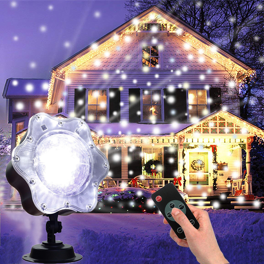 цена Thrisdar Christmas LED Snowfall Laser Projector IP65 Outdoor Garden Landscape Spotlight Wedding Party Disco Laser Stage Light онлайн в 2017 году