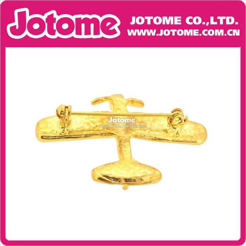 Золотой самолет горный хрусталь кристалл брошь для мужских костюмов