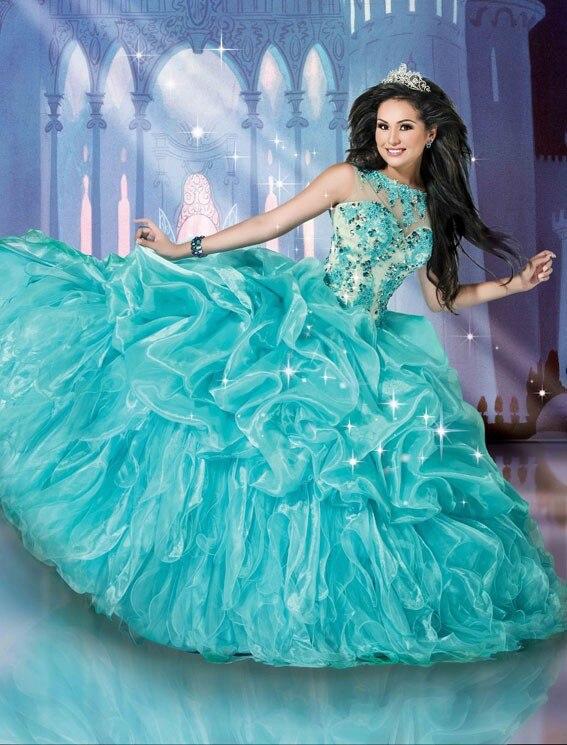 Filles chaud voir à travers romantique Quinceanera robe de bal avec cristaux réservoir Scoop vestido de noiva 2018 mère des robes de mariée