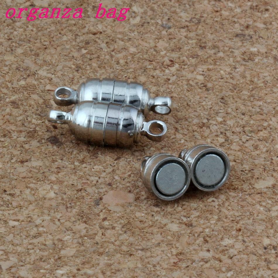 50 компл./лот 15,5*5,5 мм Мощное магнитное ожерелье застежки античное серебро для ожерелья ювелирные изделия DIY L-1