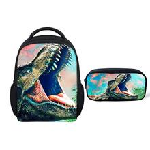 Thikin Jurassic World Boys Preschool Book Backpack for Kids Pupils School bags Supplies Bookbags Students Daybag