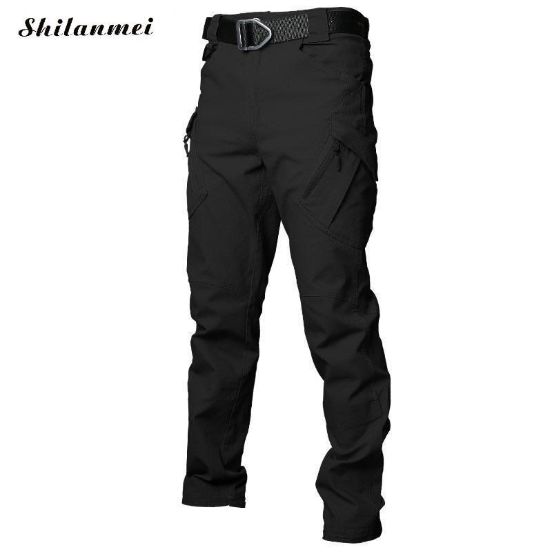 2018 hommes randonnée pantalon Softshell pantalon plein air pantalon homme imperméable montagne Trekking Ski Sport pantalon S-XXXL grande taille - 4