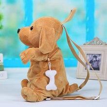 1 st 25cm Barn ryggsäck Cartoon Dog Kids Söt docka Plush Toy storage Lovely Barn Baby Animal Väskor för dagis skolbag
