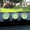 car styling meter  noctilucence originality decoration Ornaments best gift  4CM cool quartz watch + hygrometer + thermometer