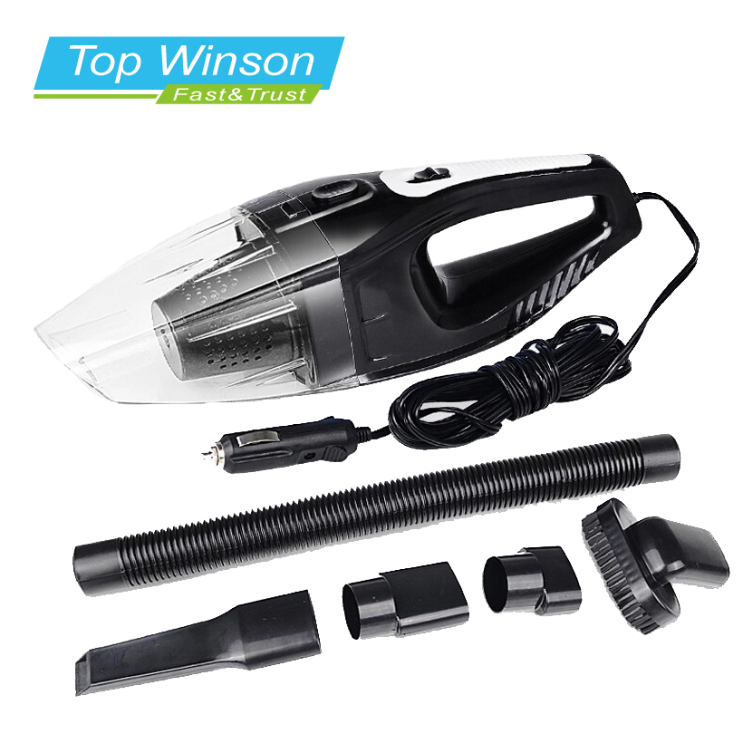 120W Portable Car Vacuum Cleaner Wet And Dry Dual Use Auto Cigarette Lighter Hepa Filter 12V Black