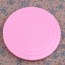 14cm Pink Pottery Wheel Modelling Platform Sculpting Model Making Clay Tools Plastic Round Rotary Turn Plate Polymer Clay Tools(China)