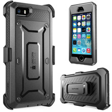 For iphone SE 5 5s Case SUPCASE Unicorn Beetle Pro Full Body Rugged Holster Clip Cover with Built in Screen Protector Case
