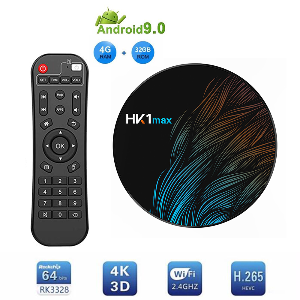 HK1 MAX IPTV TV Box Android 9.0 RK3328 4GB 32GB TV Receiver H.265 WiFi Bluetooth Media Player 4K HDR Ultra HD Set Top TV BoxHK1 MAX IPTV TV Box Android 9.0 RK3328 4GB 32GB TV Receiver H.265 WiFi Bluetooth Media Player 4K HDR Ultra HD Set Top TV Box