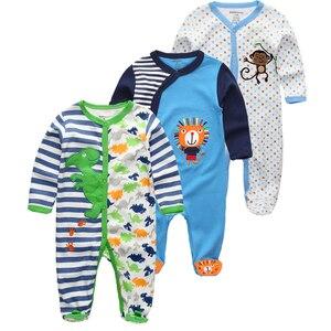 Image 5 - Kiddiezoom 2/3/4 adet/takım bebek erkek gömlek giyim setleri yenidoğan giyim erkek romper yaz roupa infantil kıyafet kostümleri