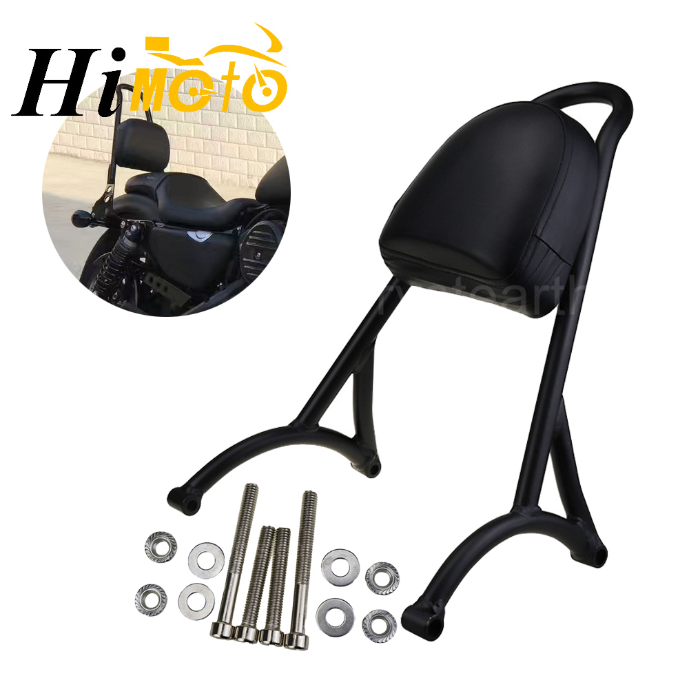 New Arrival Motorcycle Black Passenger Sissy Bar Backrest For 2004-2016 Harley Sportster XL883 XL1200 05 06 07 08 09 10 11 12 13 black motorcycle short passenger backrest bracket sissy bar case for harley sportster iron 883 1200 xl883 xl1200