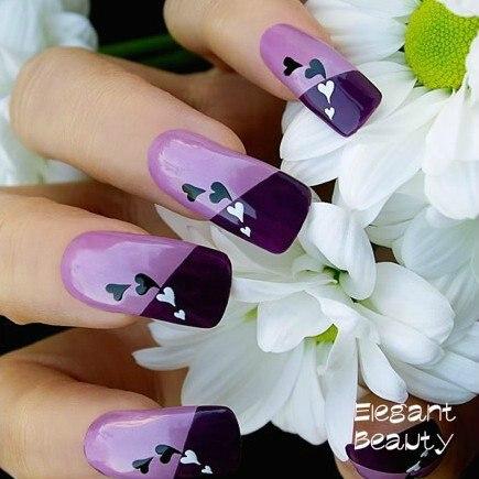 HOT ногтей салон 3D Дизайн ногтей Французский совет выдалбливают татуировки наклейки для ногтей 1000 пакетов/Много EMS/ DHL