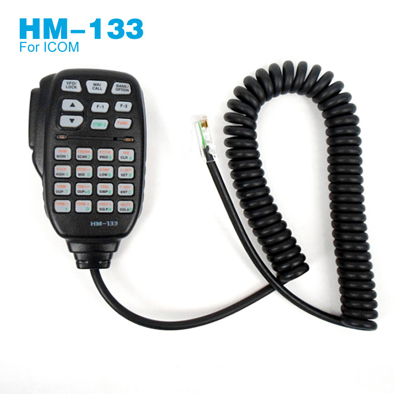 8 Pin RJ-45 HM-133 Microphone For ICOM IC-2725E IC-208H IC-E208 IC-207H D-800H Car Mobile Radio Handheld Mic