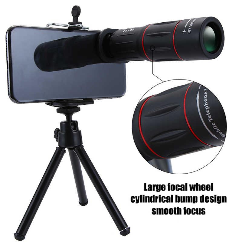 18x25 monoculaire Zoom HD lentille de téléphone portable optique observation universelle 18X téléobjectif avec trépied pour Smartphone