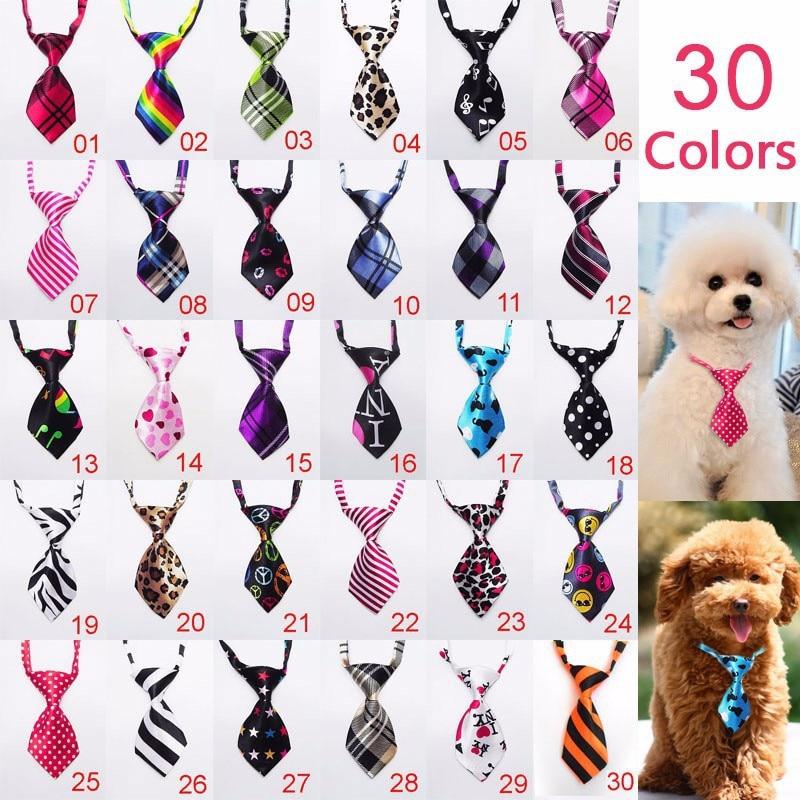 100pc lot 2019 Factory Sale New Colorful Handmade Adjustable Dog Ties Pet Bow Ties Cat Neckties