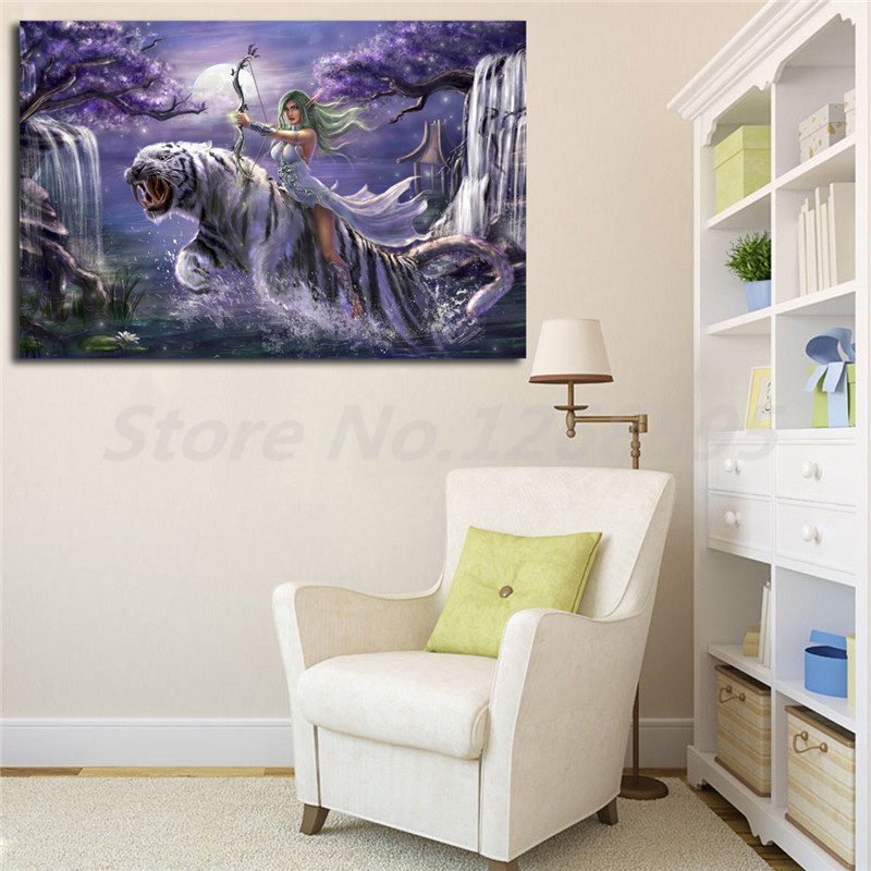 Tyrande Whisperwind World Of Warcrafts HD Wallpaper Canvas Posters Prints Wall Art Painting Decorative Picture Home Decoration