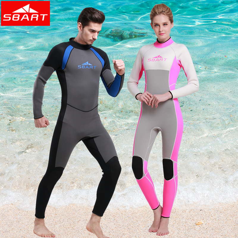 2017 SBART New Wetsuit Men Women Neoprene Surfing Wetsuits 3MM Scuba Diving Suit Long Sleeve Full Wet Suit Traje Neopreno P1015 sbart upf50 806 xuancai