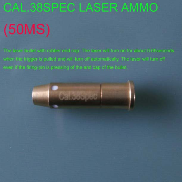 cal. 38spec (Light Pulse 50MS)  Laser Ammo,Laser Bullet, Laser Cartridge for Dry Fire training and shooting simulation-in Lasers from Sports & Entertainment