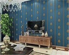 beibehang hudas beauty Modern European Damascus vertical stripes non-woven wallpaper wall papers home decor papel de parede