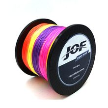 JOF 8 STRANDS Weaves 500M Extrem Strong Japan Multifilament PE 8 Braided Fishing Line 15 20 30 40 50 60 80 120 150 200LB fucile