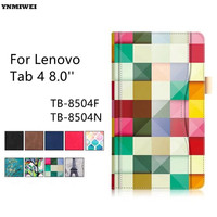 Tablet Case For Lenovo Tab4 8 Luxury Color Printing Stand Flip Cover For Lenovo Tab 4