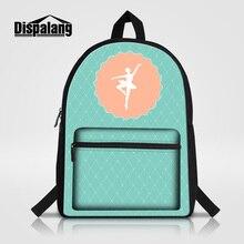 Dispalang женская мода рюкзак девушки балета печать школьные сумки для девочек-подростков холст mochilas feminina дамы сумки для ноутбуков