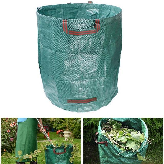 272L worek na odpady ogrodowe wielokrotnego użytku liść trawa trawnik basen torby ogrodnicze sprzedaż TB tanie i dobre opinie CN (pochodzenie) Other