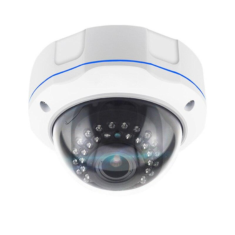 5MP Zoom Manuel Caméra IP Dôme 3.6-10mm Lentille Varifocale Anti-Vandalisme 30 pièces Led IR Vision Nocturne Infrarouge Réseau POE Caméra