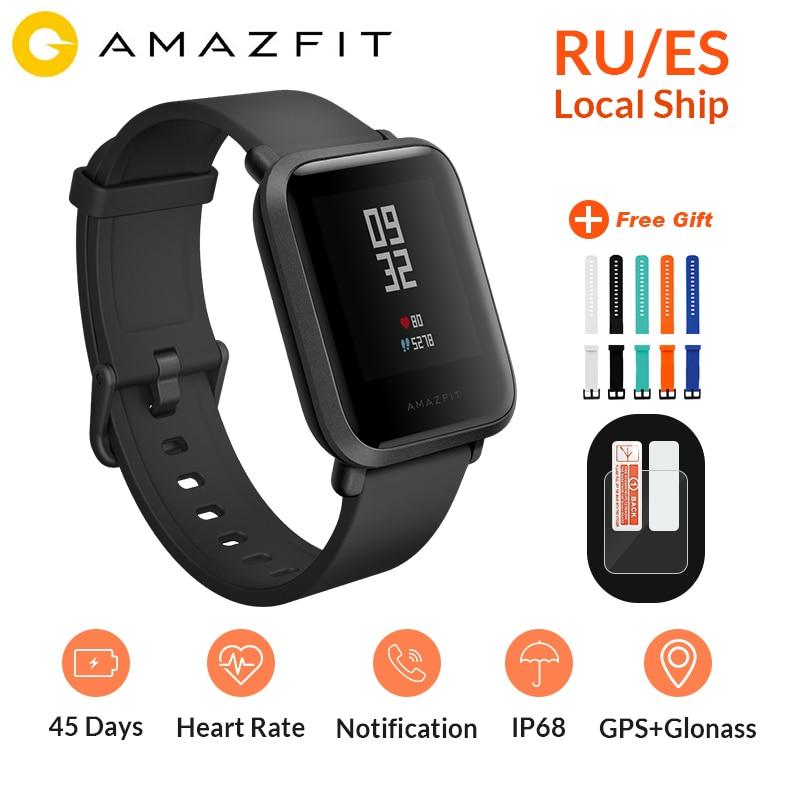 Global Versie Huami Amazfit Bip Smart Horloge GPS Gloness Smartwatch Smart Horloge 45 Dagen Standby voor Telefoon MI8 IOS Intelligente-in Smart watches van Consumentenelektronica op  Groep 1
