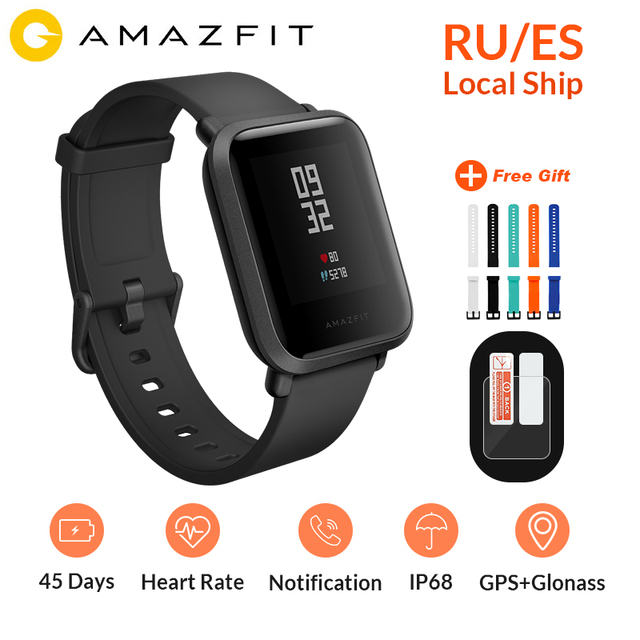 Global Version Huami Amazfit Bip Smart Watch GPS Gloness Smartwatch Smart Watch 45 Days Standby for Phone MI8 IOS Intelligent