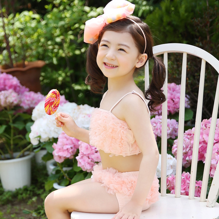 2017 Korean children swimwear baby girl children baby swimsuit swimsuit hot springs swimsuit performance suit