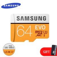 Samsung memória original micro cartão sd 16 gb/32 gb/sdhc 64 gb/sdxc class10 evo tf cartões flash de segurança genuína frete grátis