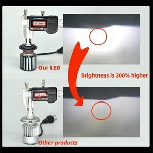 Image 4 - Dawnnight 2 قطعة H7 Led لمبة CSP رقاقة توربو 9000LM 6000K حجم صغير H4 H1 H3 H8/H9/H11 H27/880 9005/HB3 9006/HB4 D2S(R/C) F3 LED
