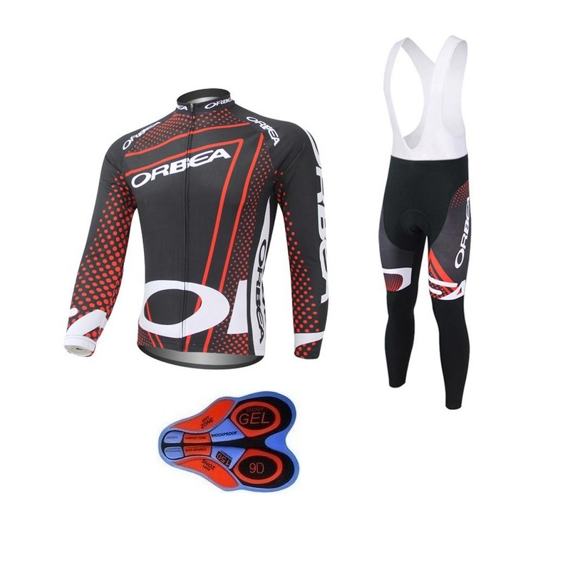 2017 Team ORBEA Long Ropa Ciclismo Cycling Jerseys sets Autumn Mountian Bicycle Clothing MTB Bike Clothes For Man 9D +12 style live team cycling jerseys suit a001