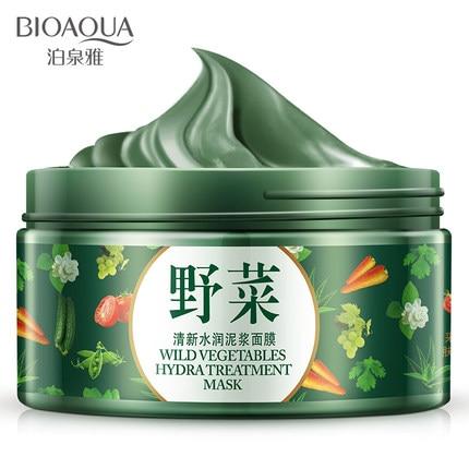 BIOAQUA Face Mask Ecological Potherb Mud Wild Vegetables Face Mask Skin Care Face