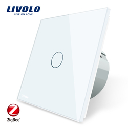 Livolo EU Standard Zigbee Smart Home Wall Touch Switch, Touch/WiFi/APP Control, Works with Alexa  C701Z-11/2/3/5