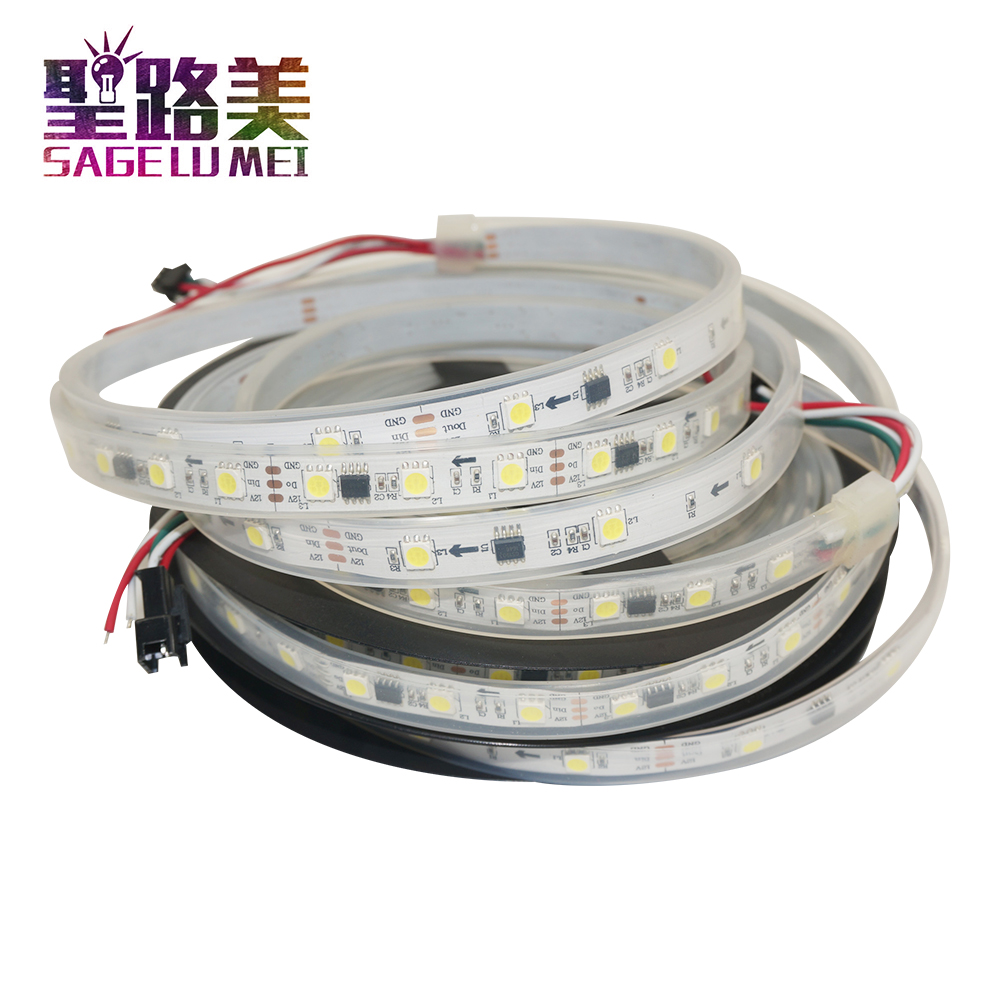 5m/rolls 150 /300leds DC12V ws2811 led strips  white /warm white single color 5050 SMD addressable Digital 1 ic control 3 leds